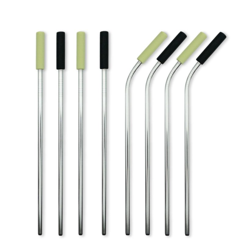 Stainless Steel Straw Set - 8 Pack