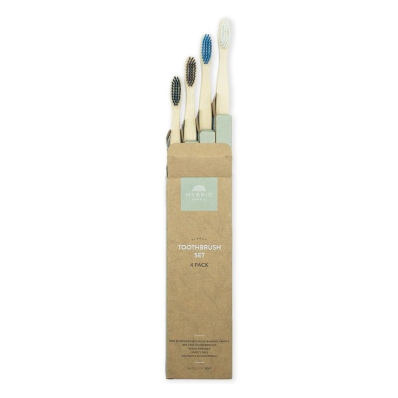 Bamboo Toothbrush - Pack of 4